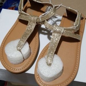 Girls Children's Place Gold Sandals NWT